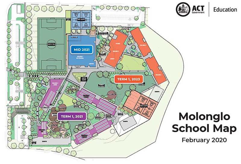 Molonglo school map